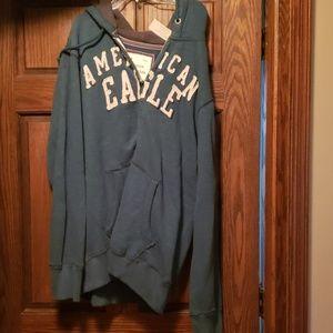 American Eagle XL dark green hoodie. NWT